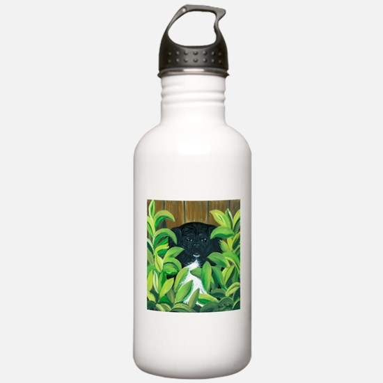 Peek-A-Peke Painted Pet Water Bottle