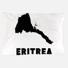 Eritrea Silhouette Pillow Case