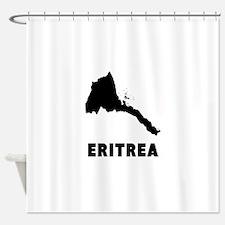 Eritrea Silhouette Shower Curtain