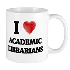 I love Academic Librarians (Heart made from w Mugs