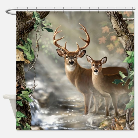 Deer Scene Shower Curtain