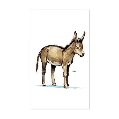 Donkey Rectangle Sticker