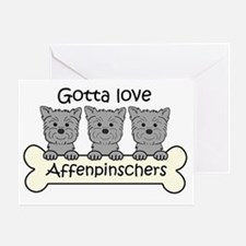Funny Affenpinscher Greeting Card