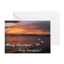 Christmas in Paradise Greeting Card