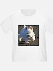 Beachcombing Westie Low Tide T-Shirt