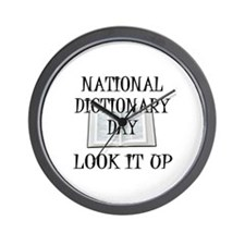 Dictionary Day Wall Clock