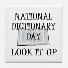 Dictionary Day Tile Coaster
