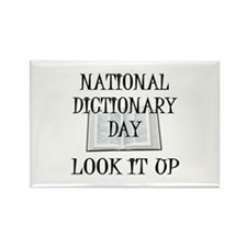 Dictionary Day Rectangle Magnet