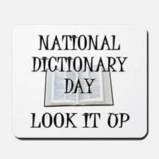 Dictionary Day Mousepad