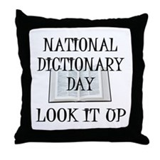 Dictionary Day Throw Pillow