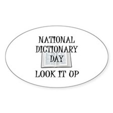 Dictionary Day Oval Decal
