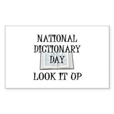 Dictionary Day Rectangle Decal