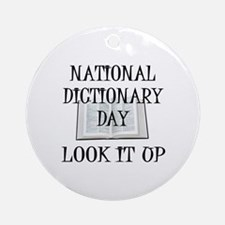 Dictionary Day Ornament (Round)