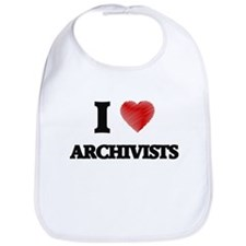 I love Archivists (Heart made from words) Bib