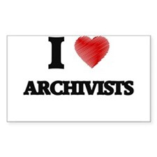 I love Archivists (Heart made from words) Decal