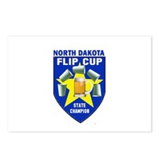 North Dakota Flip Cup State C Postcards (Package o