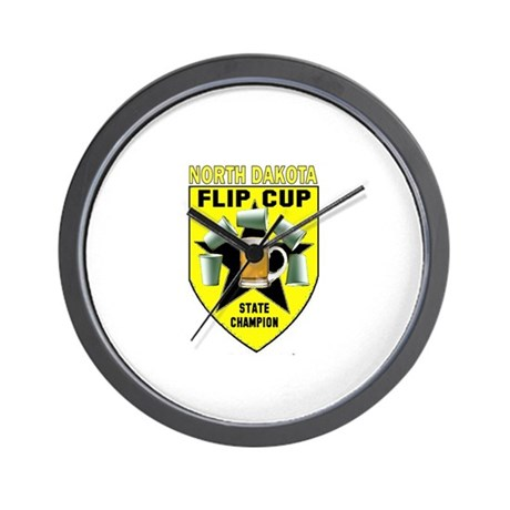 North Dakota Flip Cup State C Wall Clock