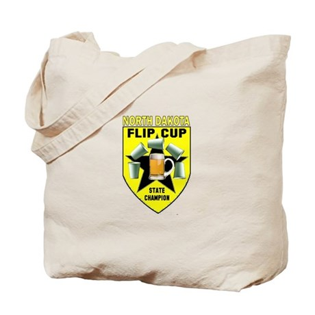North Dakota Flip Cup State C Tote Bag