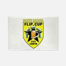 North Dakota Flip Cup State C Rectangle Magnet