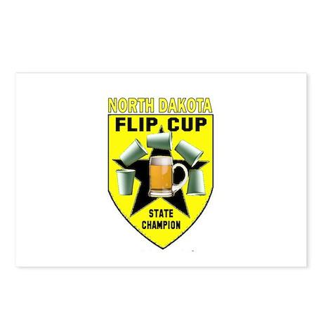 North Dakota Flip Cup State C Postcards (Package o