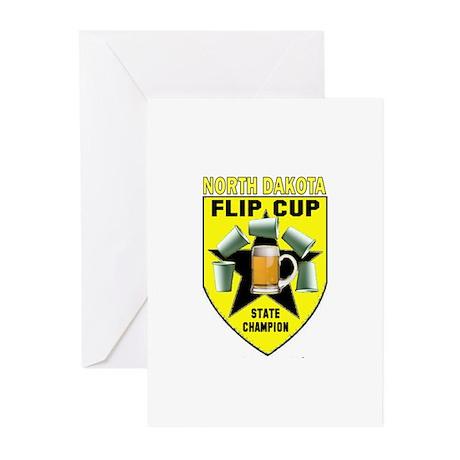 North Dakota Flip Cup State C Greeting Cards (Pk o