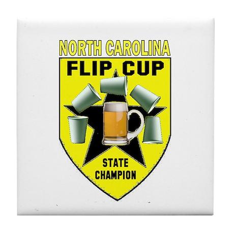 North Carolina Flip Cup State Tile Coaster