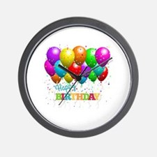 Cute Happy birthday Wall Clock