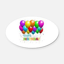 Cute Birthday Oval Car Magnet