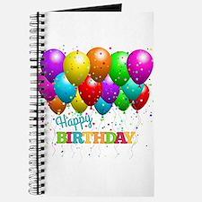Trendy Happy Birthday Balloons Journal