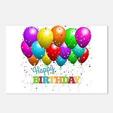 Trendy Happy Birthday Bal Postcards (Package of 8)