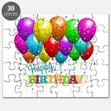 Trendy Happy Birthday Balloons Puzzle