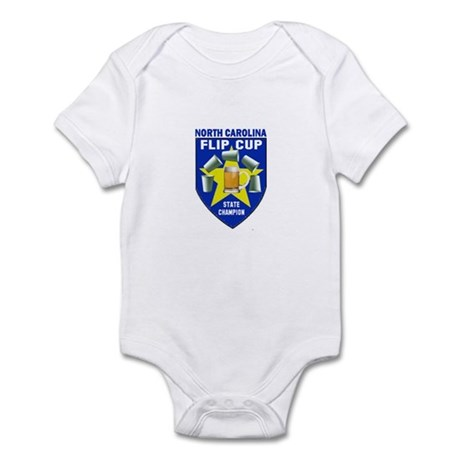 North Carolina Flip Cup State Infant Bodysuit