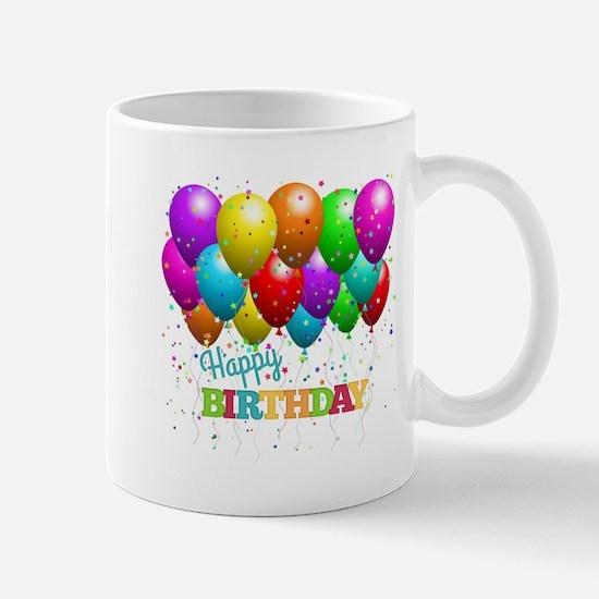 Trendy Happy Birthday Balloons Mugs
