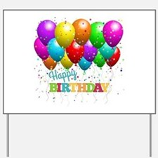 Trendy Happy Birthday Balloons Yard Sign