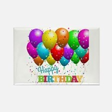 Trendy Happy Birthday Balloons Magnets