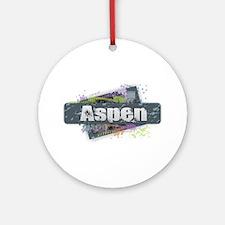 Aspen Design Round Ornament