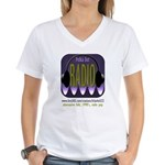 Polka Dot Radio on Live365 Women's V-Neck T-Shirt