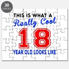 Really Cool 18 Birthday Designs Puzzle