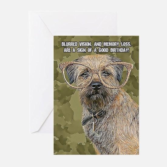 Border Terrier Birthday Greeting Cards (pk Of 10)