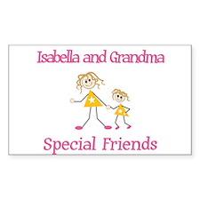 Isabella & Grandma - Friends Rectangle Decal