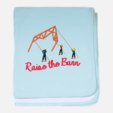 Raise the Barn baby blanket