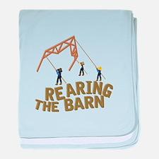 Rearing the Barn baby blanket