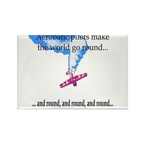 The world goes round... Rectangle Magnet (100 pack