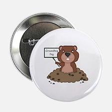 "Cute Groundhog 2.25"" Button"