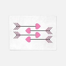Valentines Arrows 5'x7'Area Rug