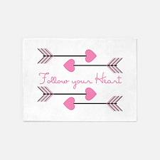 Follow Your Heart 5'x7'Area Rug