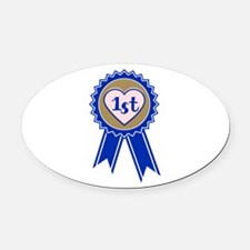 1st Blue Ribbon Oval Car Magnet