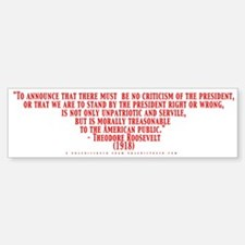 Teddy Says Bumpersticker (Red & Black on White)