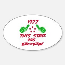 1922 This star was born Decal