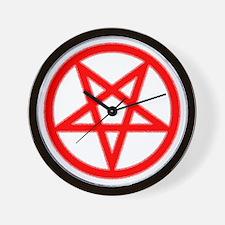 Bloody Pentagram Wall Clock